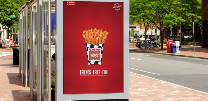 Checkers Burgers Sidewalk Billboards