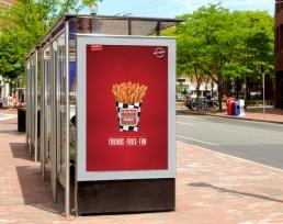 Checkers Burgers Sidewalk Billboards